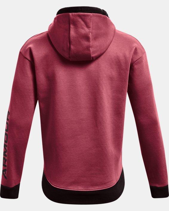 Men's UA RUSH™ Fleece Hoodie, Red, pdpMainDesktop image number 6