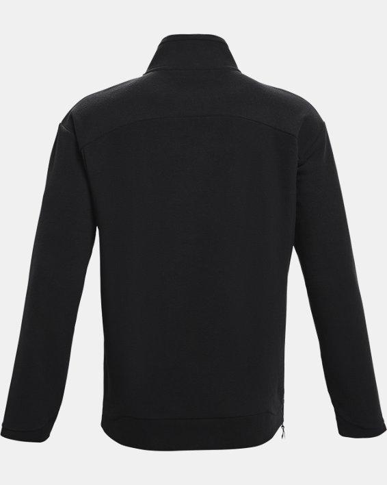 Men's UA RUSH™ Fleece ¼ Zip, Black, pdpMainDesktop image number 5