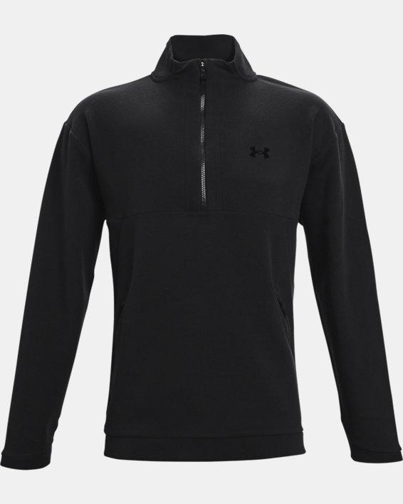 Men's UA RUSH™ Fleece ¼ Zip, Black, pdpMainDesktop image number 4
