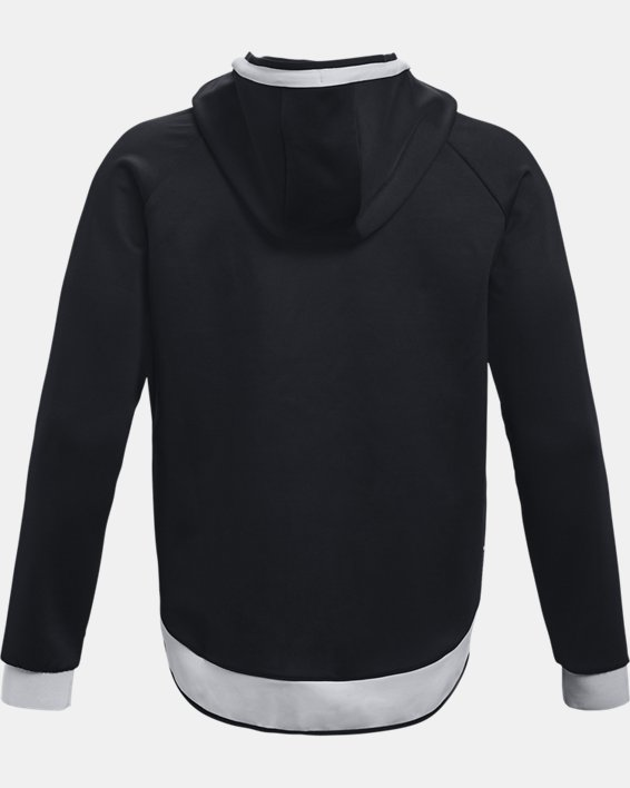 Herren UA RECOVER™ Oberteil mit durchgehendem Zip, Black, pdpMainDesktop image number 4