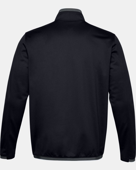 Men's UA RUSH™ Knit Track Jacket, Black, pdpMainDesktop image number 4