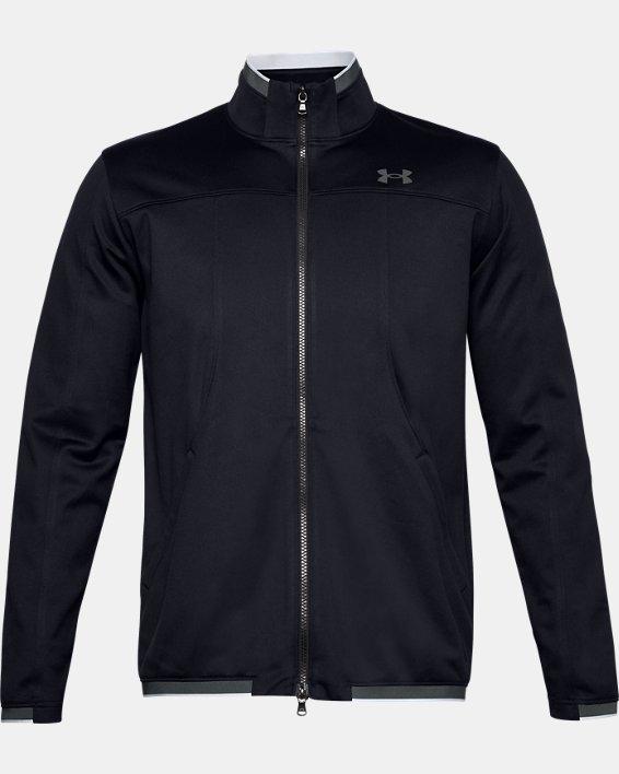 Men's UA RUSH™ Knit Track Jacket, Black, pdpMainDesktop image number 3