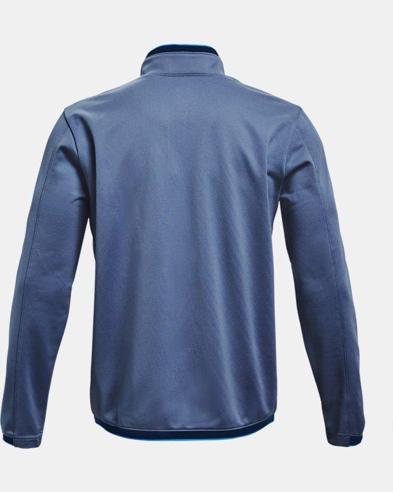 Men's UA RUSH™ Knit Track Jacket, Blue, pdpMainDesktop image number 4