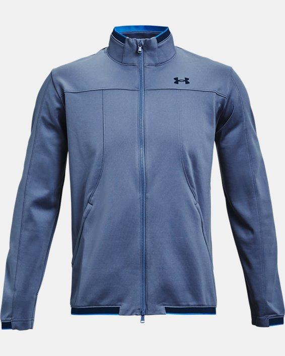 Men's UA RUSH™ Knit Track Jacket, Blue, pdpMainDesktop image number 3