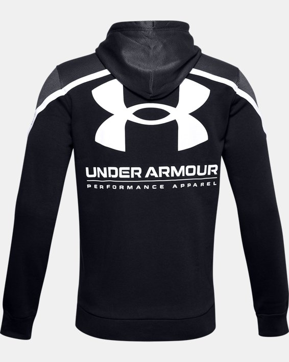 Men's UA Rival Fleece AMP Hoodie, Black, pdpMainDesktop image number 3