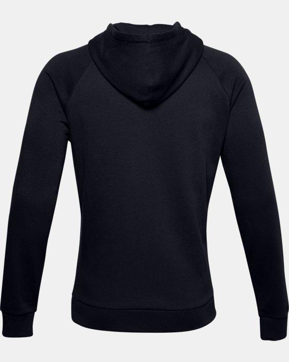 Men's UA Rival Fleece Big Logo Hoodie, Black, pdpMainDesktop image number 5