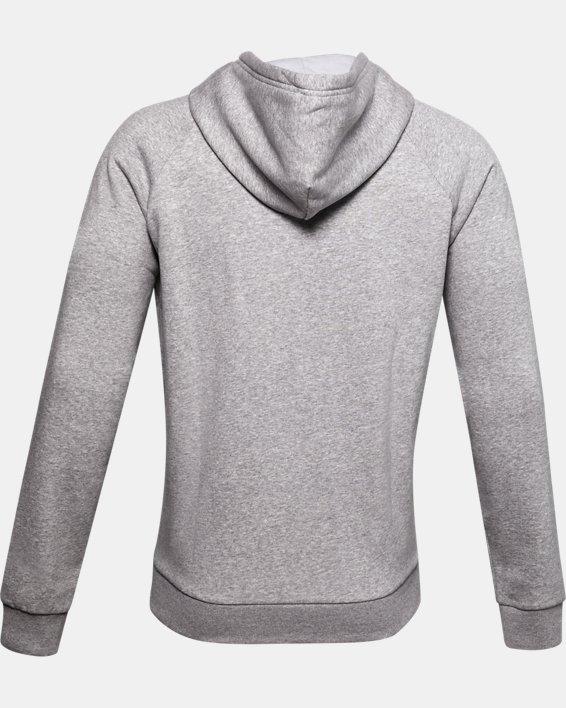 Men's UA Rival Fleece Big Logo Hoodie, Gray, pdpMainDesktop image number 1