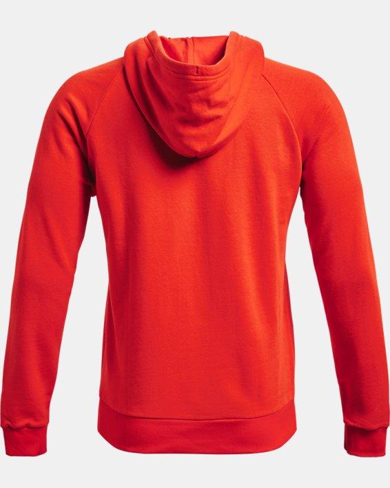 Sweat à capuche UA Rival Fleece Big Logo pour homme, Orange, pdpMainDesktop image number 5