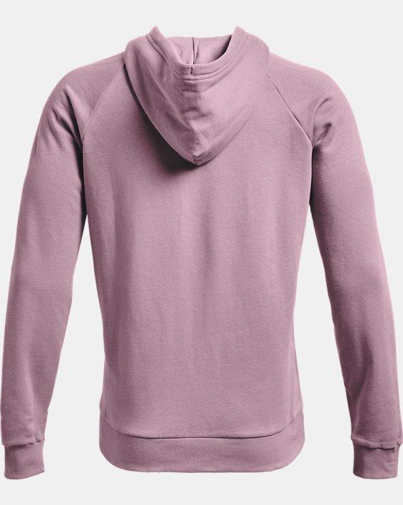 Men's UA Rival Fleece Big Logo Hoodie, Pink, pdpMainDesktop image number 5
