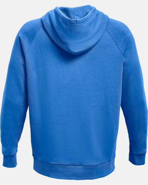 Men's UA Rival Fleece Big Logo Hoodie, Blue, pdpMainDesktop image number 5