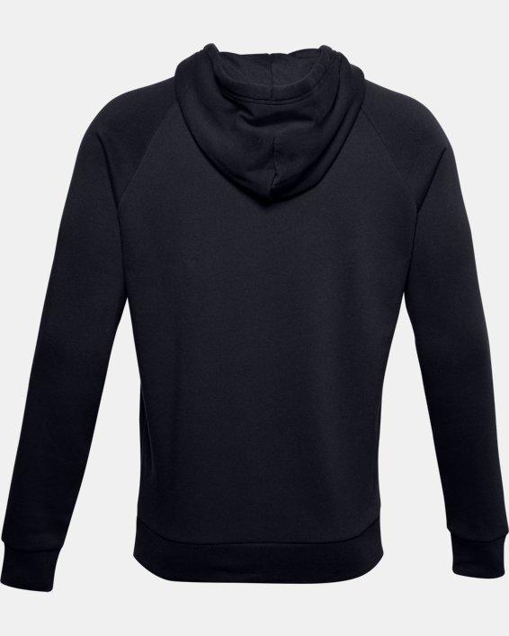 Men's UA Rival Fleece Multilogo Hoodie, Black, pdpMainDesktop image number 5