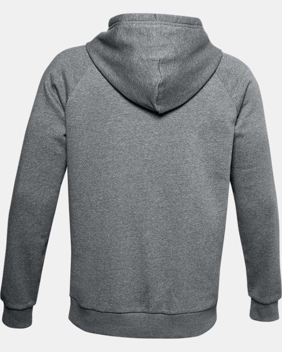Sudadera con capucha de tejido Fleece UA Rival Multilogo para hombre, Gray, pdpMainDesktop image number 6