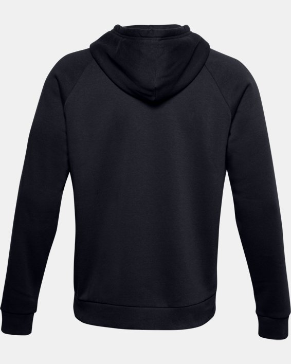 Men's UA Rival Fleece Box Logo Hoodie, Black, pdpMainDesktop image number 4