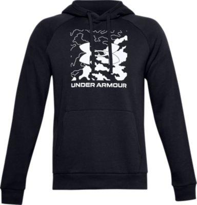 Under Armour Rival Fleece Box Logo Hoodie Haut Homme