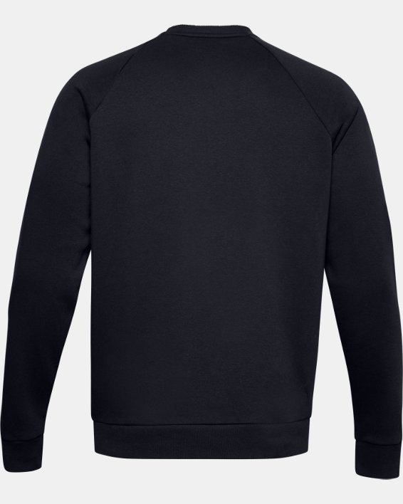 Men's UA Rival Fleece Crew, Black, pdpMainDesktop image number 5