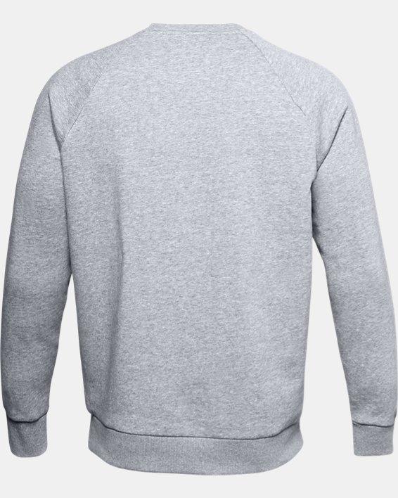 Men's UA Rival Fleece Crew, Gray, pdpMainDesktop image number 5