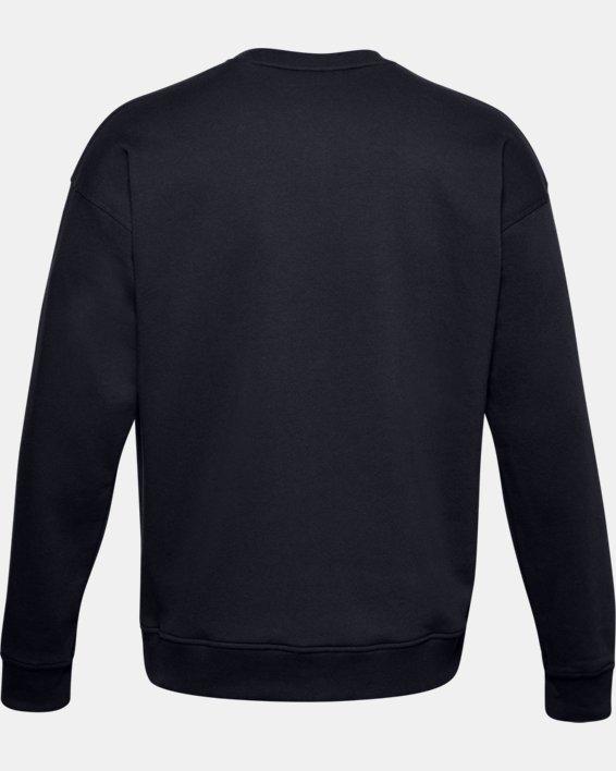 Men's UA Rival Fleece Camo Wordmark Crew, Black, pdpMainDesktop image number 5
