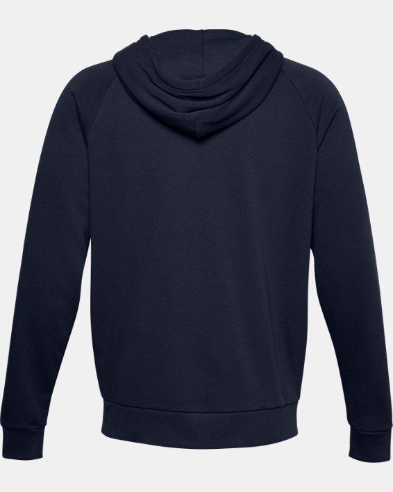 Men's UA Rival Cotton Full Zip Hoodie, Navy, pdpMainDesktop image number 6