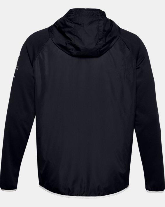Men's Armour Fleece® Storm Full Zip Hoodie, Black, pdpMainDesktop image number 5