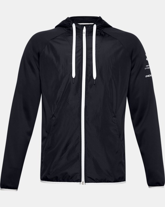 Men's Armour Fleece® Storm Full Zip Hoodie, Black, pdpMainDesktop image number 4
