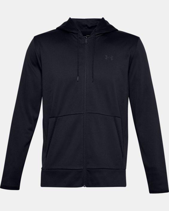 Men's Armour Fleece® Full Zip Hoodie, Black, pdpMainDesktop image number 4