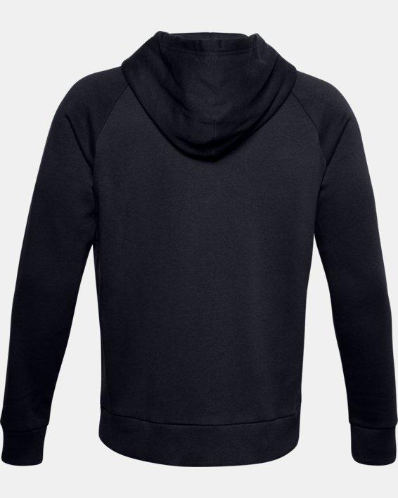 Men's UA Rival Fleece Full Zip Hoodie, Black, pdpMainDesktop image number 6