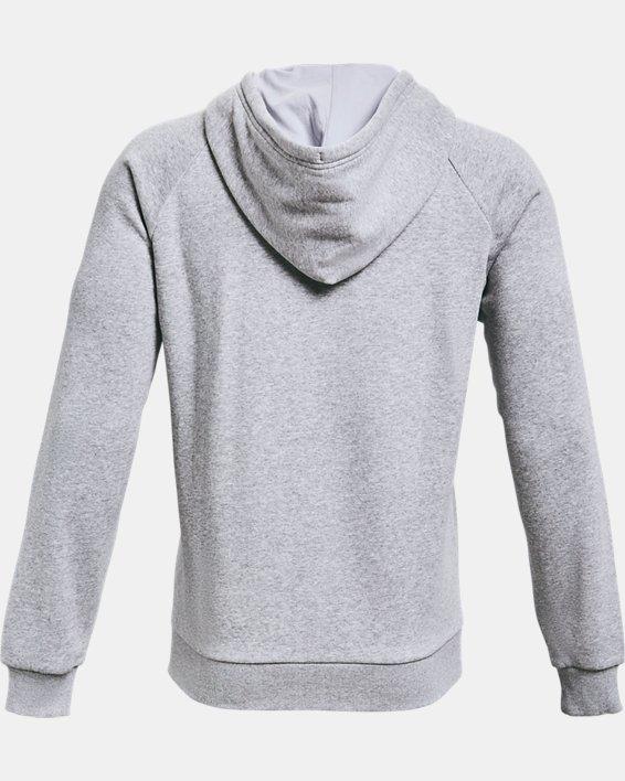 Men's UA Rival Fleece Full Zip Hoodie, Gray, pdpMainDesktop image number 4