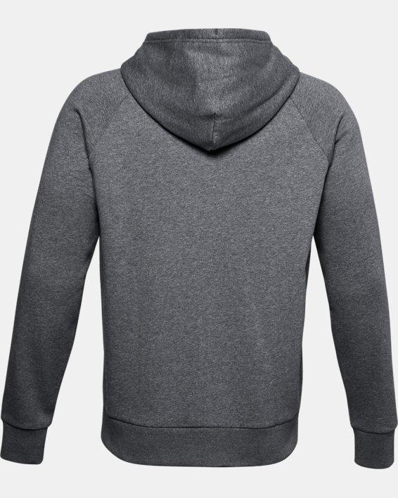Men's UA Rival Fleece Full Zip Hoodie, Gray, pdpMainDesktop image number 5