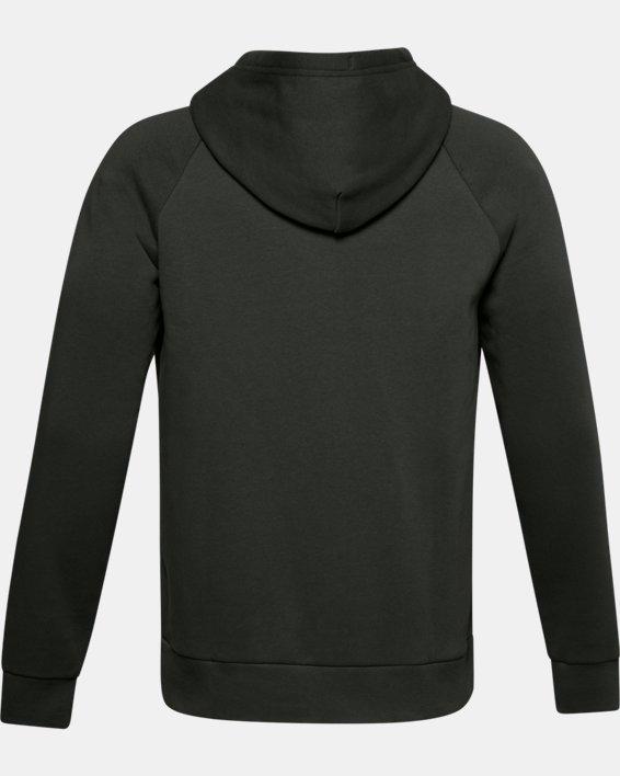 Men's UA Rival Fleece Full Zip Hoodie, Green, pdpMainDesktop image number 5