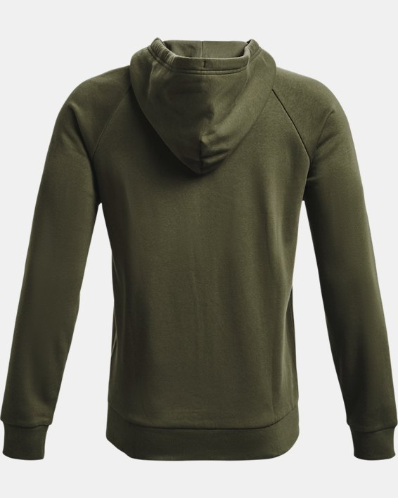 Men's UA Rival Fleece Full Zip Hoodie, Green, pdpMainDesktop image number 4