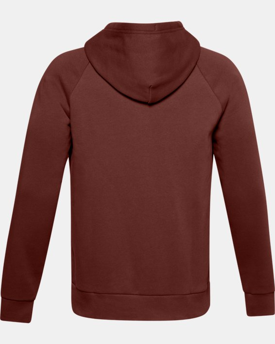 Men's UA Rival Fleece Full Zip Hoodie, Red, pdpMainDesktop image number 5