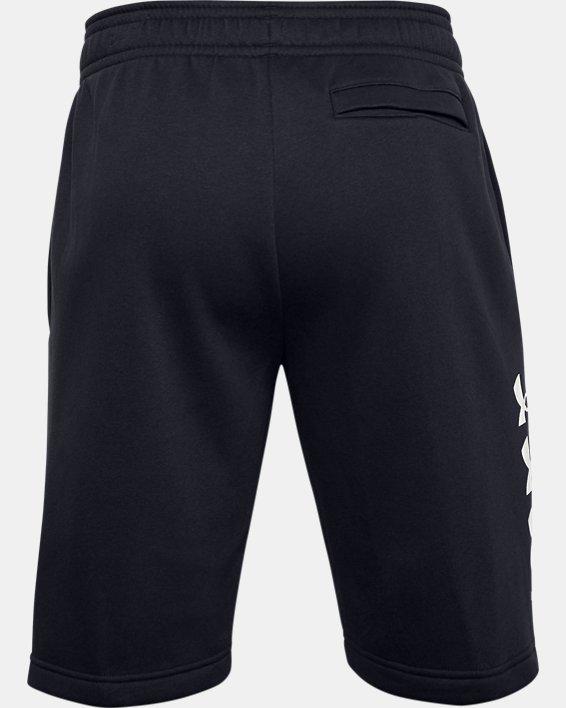Men's UA Rival Fleece Multilogo Shorts, Black, pdpMainDesktop image number 3