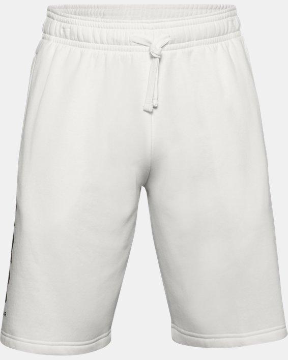 Men's UA Rival Fleece Multilogo Shorts, White, pdpMainDesktop image number 4
