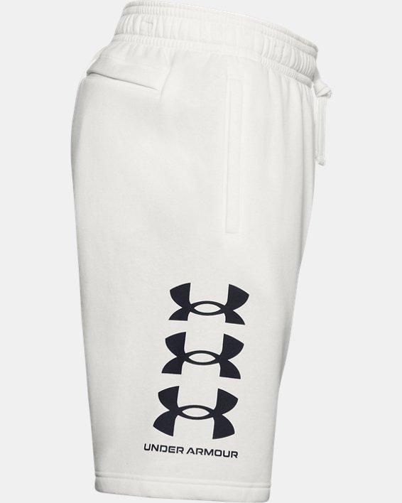 Men's UA Rival Fleece Multilogo Shorts, White, pdpMainDesktop image number 6
