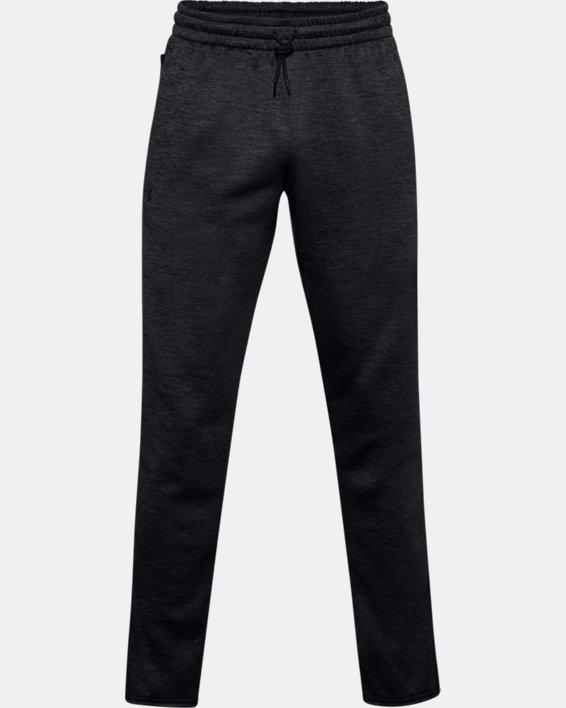 Men's Armour Fleece® Twist Pants, Black, pdpMainDesktop image number 4