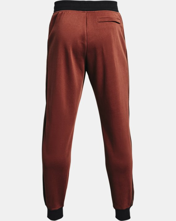 Men's UA Rival Fleece AMP Joggers, Red, pdpMainDesktop image number 5
