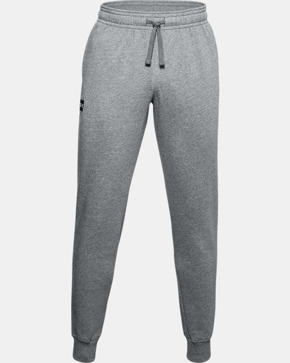 Pantalon de jogging UA Rival Fleece pour homme, Gray, pdpMainDesktop image number 4