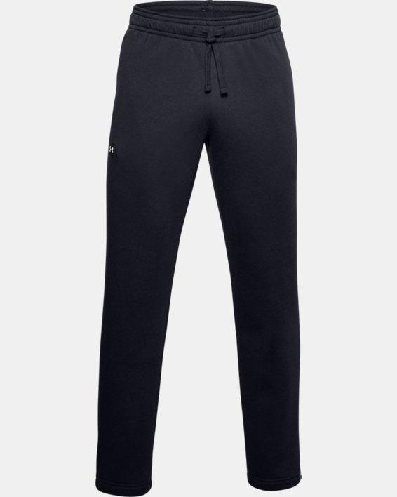 Men's UA Rival Fleece Pants, Black, pdpMainDesktop image number 4