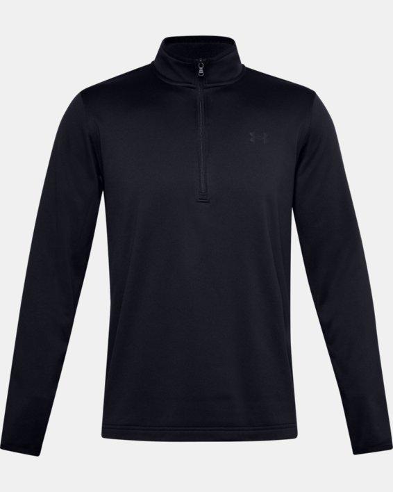 Men's Armour Fleece® ½ Zip, Black, pdpMainDesktop image number 5
