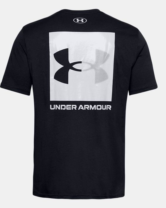 Men's UA Box Logo Short Sleeve, Black, pdpMainDesktop image number 5