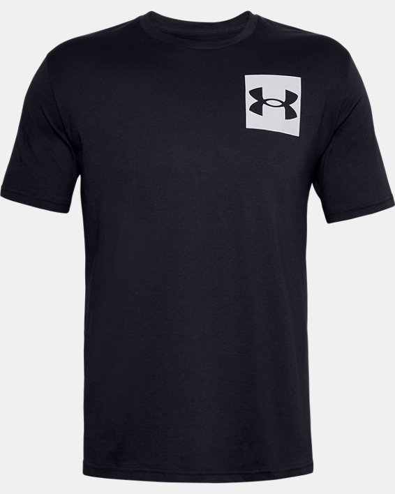 Men's UA Box Logo Short Sleeve, Black, pdpMainDesktop image number 4