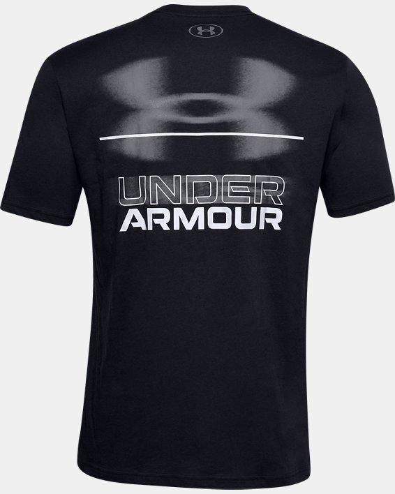 Men's UA Blurry Logo Wordmark Short Sleeve, Black, pdpMainDesktop image number 5