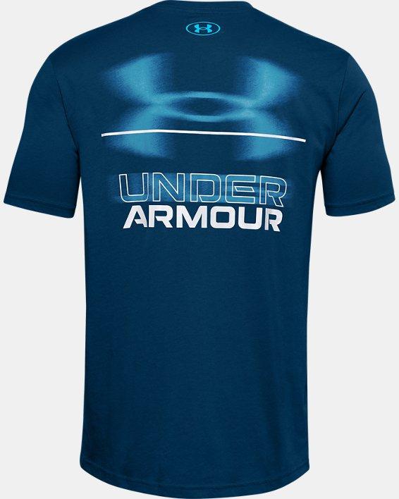 T-shirt à manches courtes UA Blurry Logo Wordmark pour homme, Blue, pdpMainDesktop image number 5