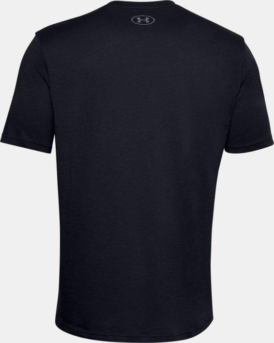 Men's UA Locker Tag Wordmark Short Sleeve, Black, pdpMainDesktop image number 5