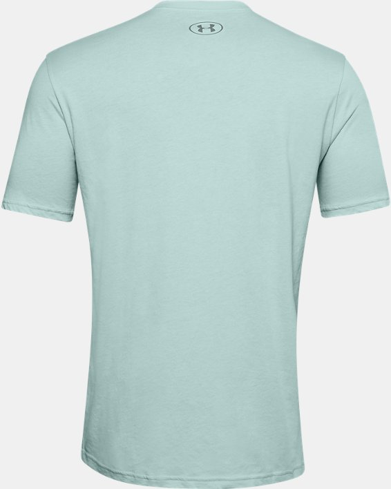 Men's UA Locker Tag Wordmark Short Sleeve, Blue, pdpMainDesktop image number 5