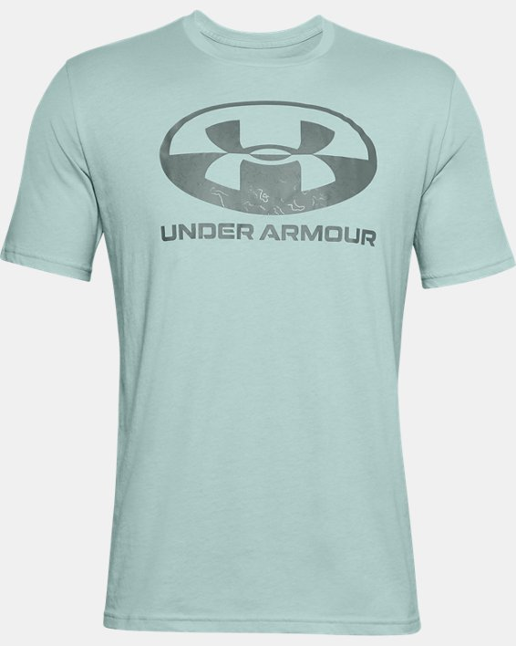 Men's UA Locker Tag Wordmark Short Sleeve, Blue, pdpMainDesktop image number 4