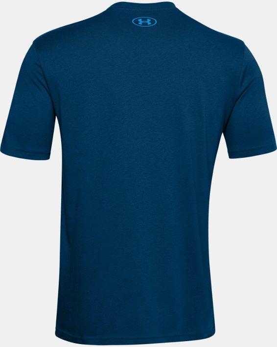 Men's UA Locker Tag Wordmark Short Sleeve, Blue, pdpMainDesktop image number 5