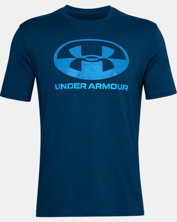Men's UA Locker Tag Wordmark Short Sleeve, Blue, pdpMainDesktop image number 4
