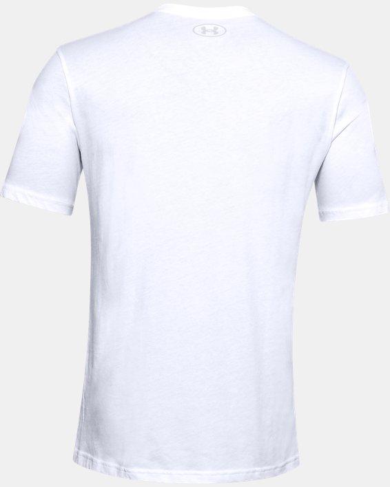 T-shirt à manches courtes UA Box Logo Wordmark pour homme, White, pdpMainDesktop image number 5