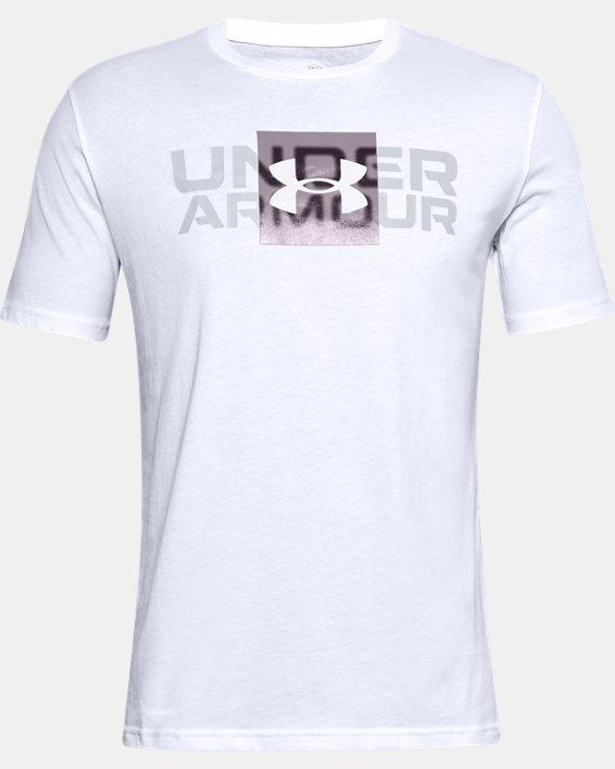 T-shirt à manches courtes UA Box Logo Wordmark pour homme, White, pdpMainDesktop image number 4